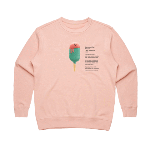 Cake Popsicle 01   Women's 100% Cotton Gallery Sweatshirt in Pale Pink / XL by Raymond Tan