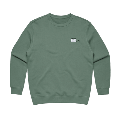 Miiya   Women's 100% Cotton Embroidered Sweatshirt in Sage / XL by Enpei Ito