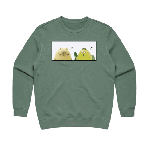 Miiya And Hooya   Women's 100% Cotton Minimal Sweatshirt in Sage / XL by Enpei Ito