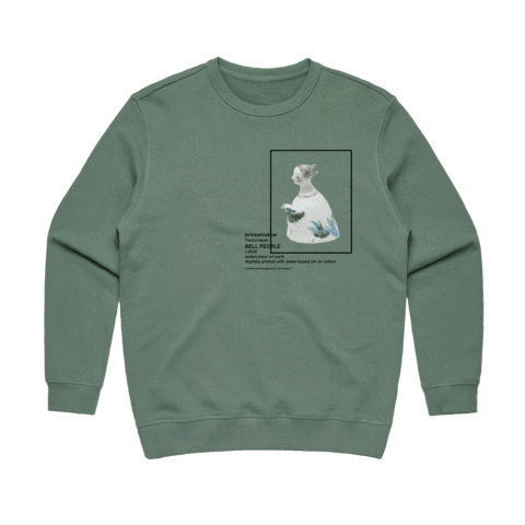 Bell People 02   Women's 100% Cotton Gallery Sweatshirt in Sage / XXL by erinswindow