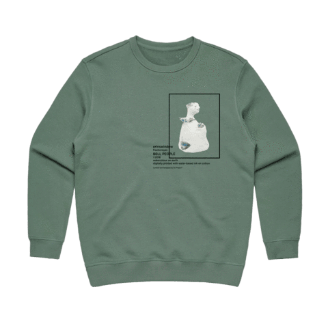 Bell People 03   Women's 100% Cotton Gallery Sweatshirt in Sage / XXL by erinswindow
