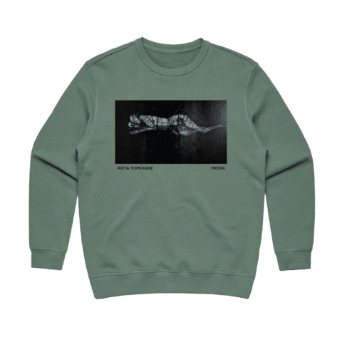 Moon   Women's 100% Cotton Gallery Sweatshirt in Sage / XL by Ikeya Tomohide