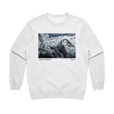 Wave   Women's 100% Cotton Gallery Sweatshirt in Marble White / XL by Ikeya Tomohide