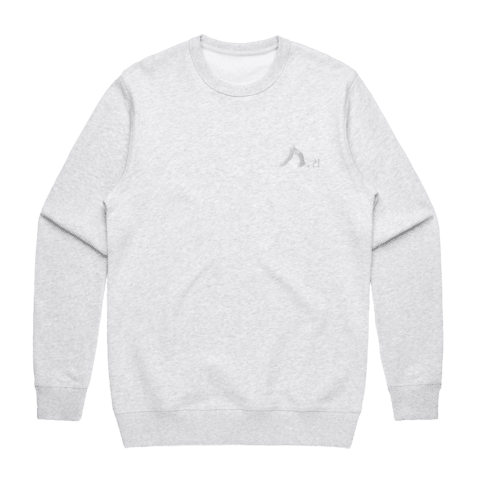 Shark   Men's 100% Cotton Embroidered Sweatshirt in Marble White / XXL by Yuuna Okanishi