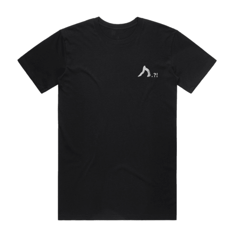 Shark   Men's 100% Organic Cotton Embroidered T-shirt in Black / XXL by Yuuna Okanishi