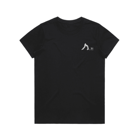 Shark   Women's 100% Organic Cotton Embroidered T-shirt in Black / XXL by Yuuna Okanishi