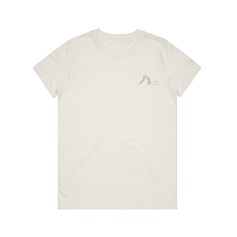 Shark   Women's 100% Organic Cotton Embroidered T-shirt in Natural / XXL by Yuuna Okanishi