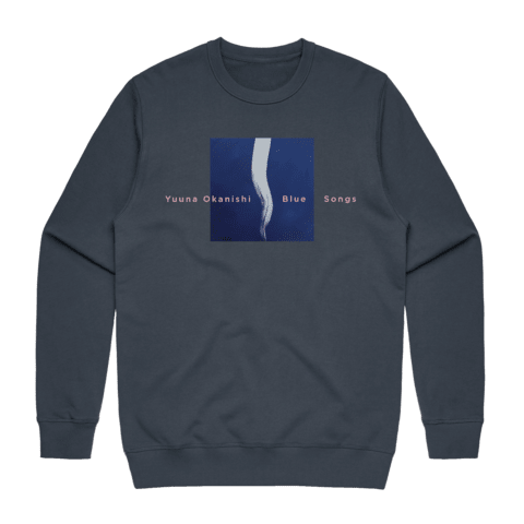 Blue Songs   Men's 100% Cotton Embroidered Sweatshirt in Air Force Blue / XXL by Yuuna Okanishi