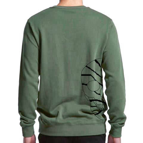 Skull   Men's 100% Cotton Minimal Sweatshirt in  by Buff Diss