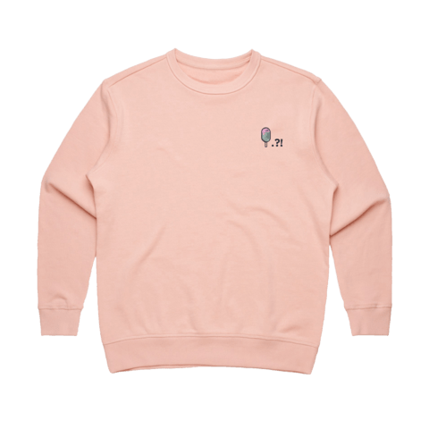 Cake Popsicle   Women's 100% Cotton Embroidered Sweatshirt in Pale Pink / XL by Raymond Tan