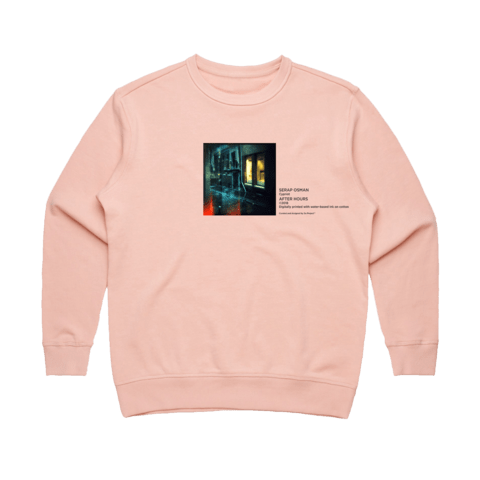After Hours 1   Women's 100% Cotton Gallery Sweatshirt in Pale Pink / XL by Serap Osman