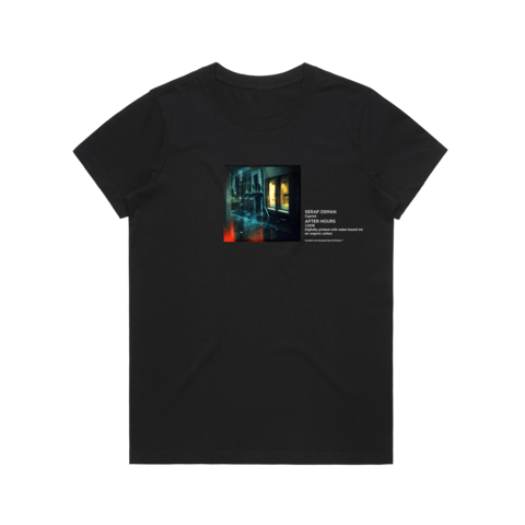 After Hours 1   Women's 100% Organic Cotton Gallery T-shirt in Black / XXL by Serap Osman