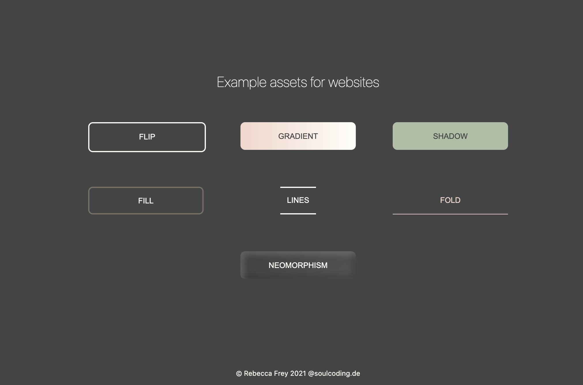 Screenshot of example assets in Next.js