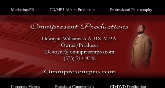 Producer, Recording Studio - Dewayne Williams