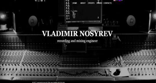 Recording and Mixing engineer - Nosyrevmixing
