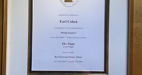 "3x Grammy Winner Mix Engineer - Earl ""The Voice"" Cohen"