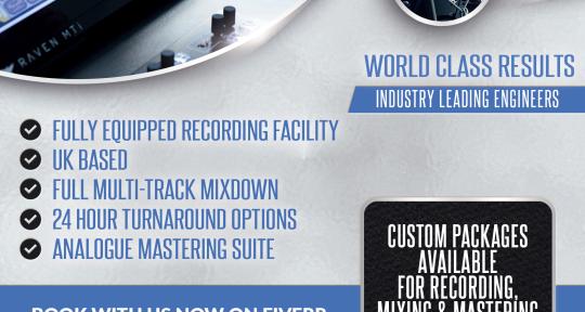 Recording, Mixing & Mastering. - Cellar Studios