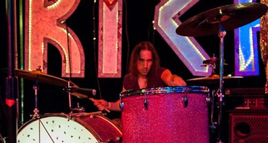 Bringing the big beat - Drewblood on the Drums