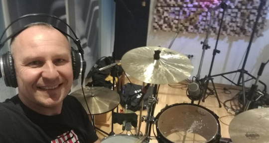 Recording drums - Branko Jemric Bumbar