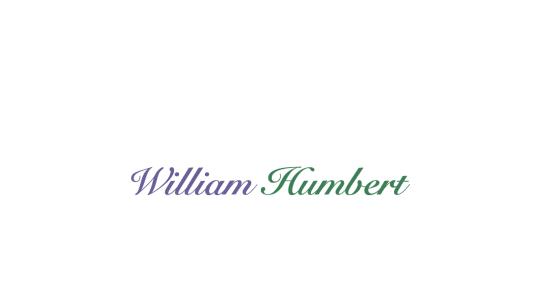 Songwriter, producer - William Humbert