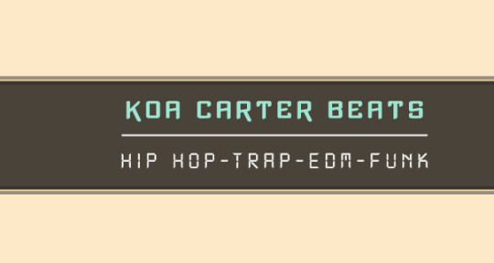 Music production  - Koa Carter Beats