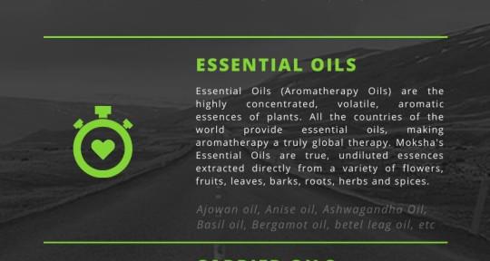 Essential oils provider - mokshalifestyle