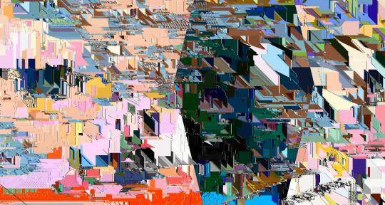 Glitchy canvas loops/visuals  - Evankelos