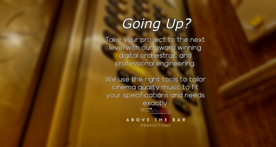 Producer, Composer, Mastering - Above the Bar Productions