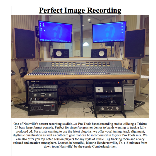 Perfect Image Recording on SoundBetter