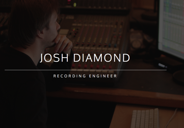 Josh Diamond - Recording Engineer on SoundBetter