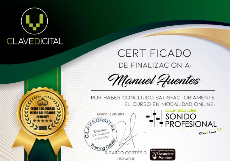 Manuel Fuentes on SoundBetter