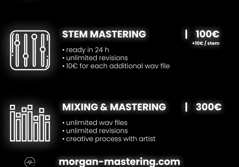 Morgan Mastering on SoundBetter