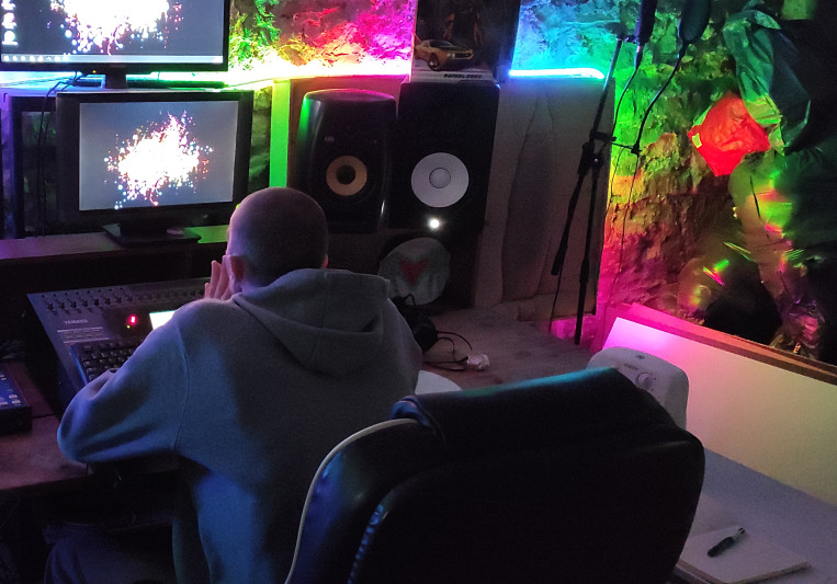 The basement studio on SoundBetter