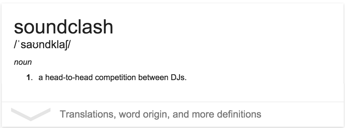 Soundclash defn