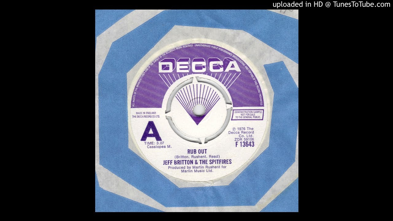 Track thumbnail image for Jeff Britton And The Spitfires - Rub Out