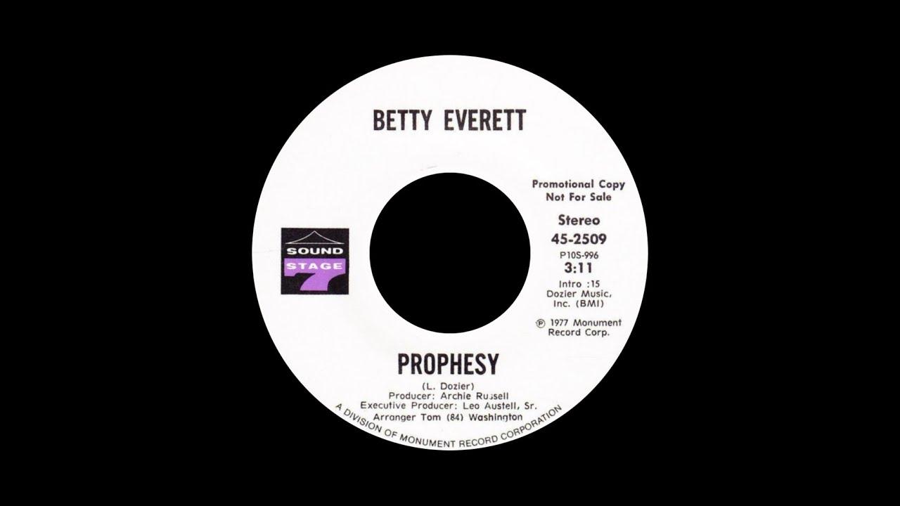 Track thumbnail image for Betty Everett – Prophesy ℗ 1977