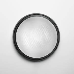 PANTAREI 190 WALL/CEIL LED 10W 30K 80CRI BLACK W/GLASS DIFFUSER