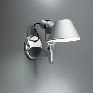 TOLOMEO WALL SPOT LED 10W 30K ALUM W/DIMMER SWITCH
