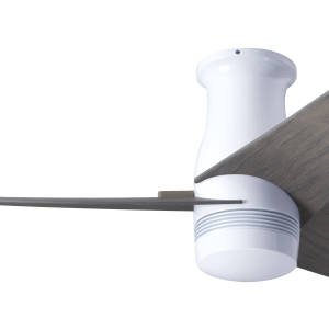 Velo Flush DC Gloss White Finish Graywash Blades