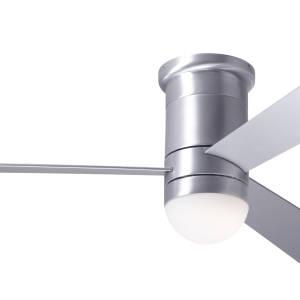 Cirrus Flush DC Brushed Aluminum Finish White Blades