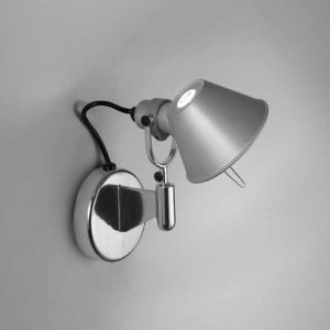 TOLOMEO WALL SPOT LED 10W 30K ALUM W/O SWITCH
