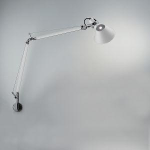 "TOLOMEO CLASSIC MAX 100W E26 WHITE W/""J"" BRACKET(ALU)"