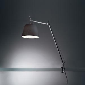 """TOLOMEO MEGA LED 31W 30K MP-MV DIM ALUM W/12"""" DIFF BLACK & TABLE CLAMP"""