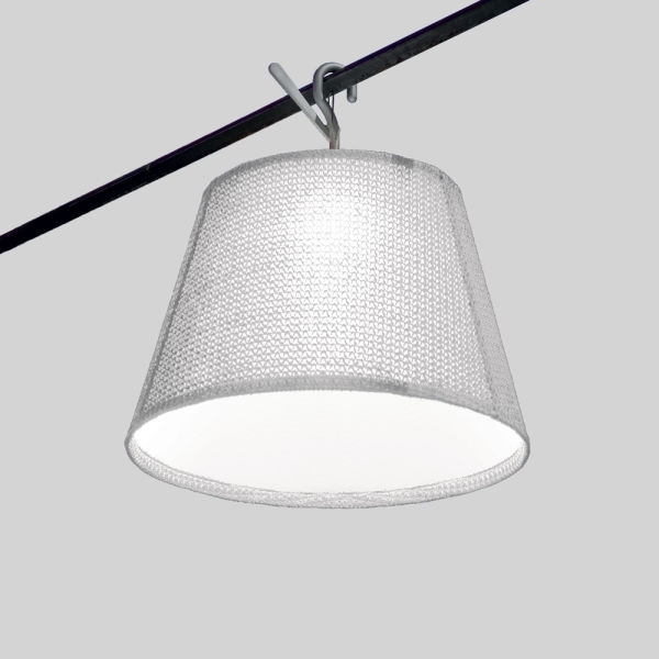 Tolomeo Outdoor Hook LED  White (diffuser)aluminum (hook)