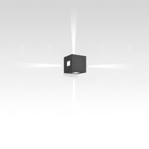 EFFETTO 14 SQUARE WALL LED 11W 30K 4 BEAM NARROW SPOT ANTHRACITE 120V