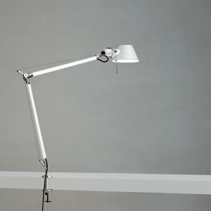 TOLOMEO CLASSIC MAX 100W E26 WHITE W/CLAMP ALUM