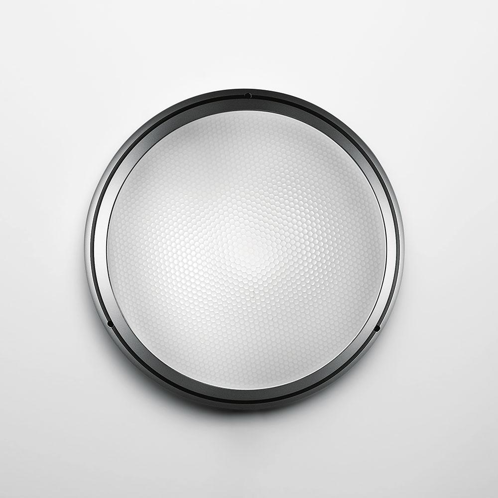 PANTAREI 190 WALL/CEIL LED 10W 30K 80CRI SILVER W/GLASS DIFFUSER