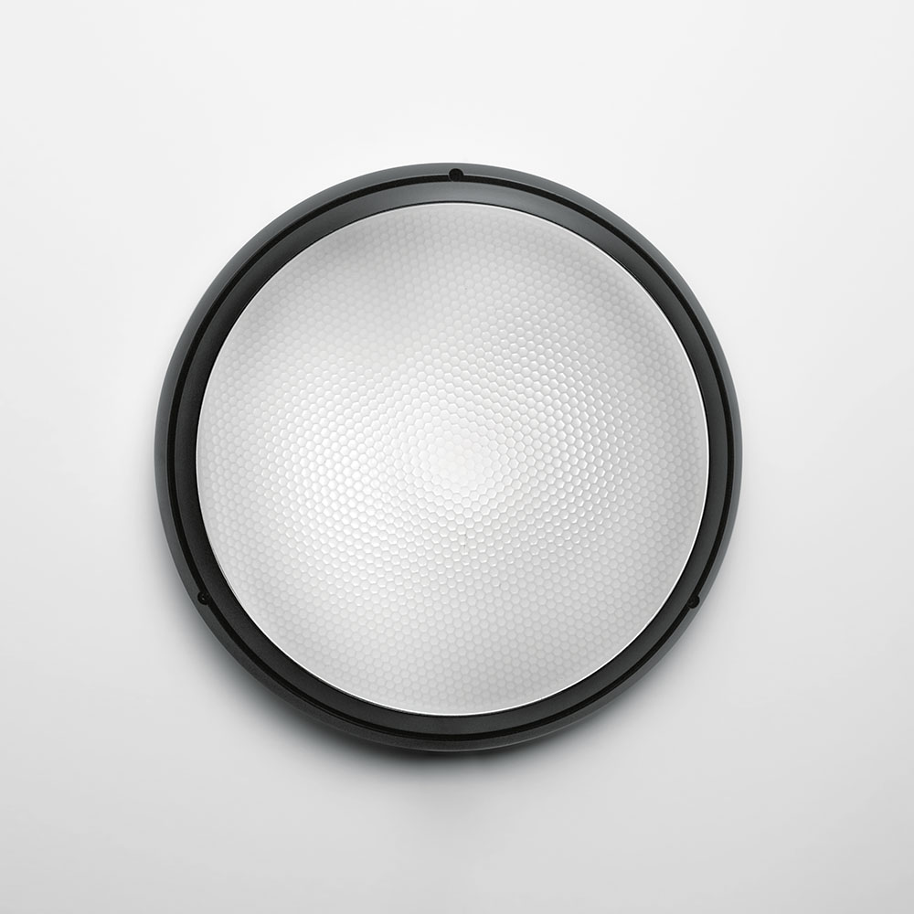 PANTAREI 190 WALL/CEIL LED 10W 30K 80CRI BLACK W/GLASS DIFFUSER
