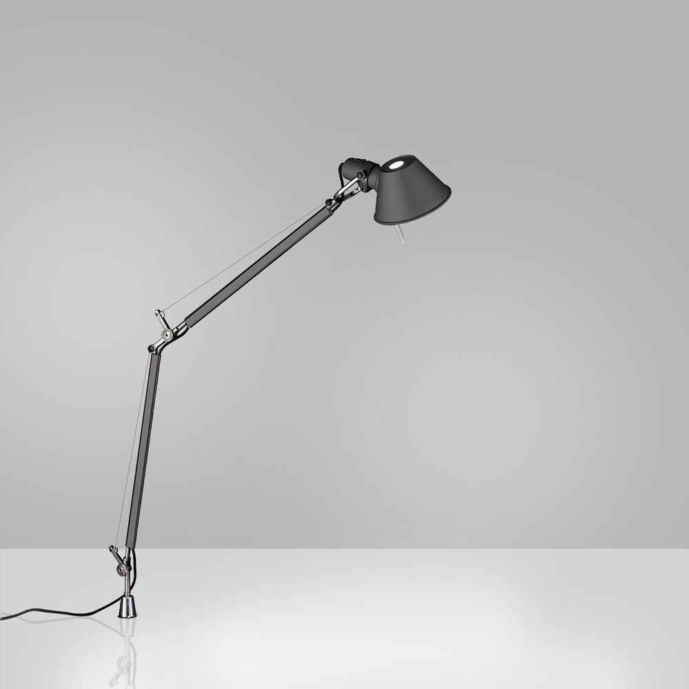 TOLOMEO MIDI LED 9W 30K MP-MV ANTHRACITE W/IN-SET PIVOT ALUM