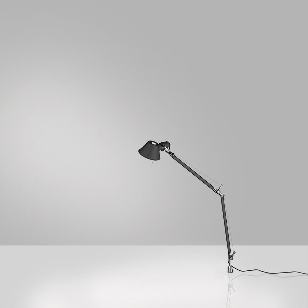 TOLOMEO MINI MAX 100W E26 BLACK W/IN-SET PIVOT ALUM